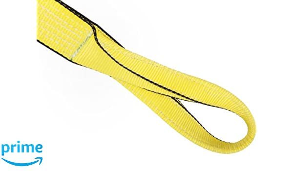 1 Width 6 Twist Eyes 10 Length Yellow 4 Ply 6200 lbs Vertical Load Capacity Mazzella EE4-901 Nylon Web Sling Eye-and-Eye