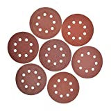 MokenEye 70PCS 5 Inch Sanding Discs 8-Hole Hook and Loop Sandpaper Assorted 40 80 120 240 320 600 800 Grits for Random Orbit Sander