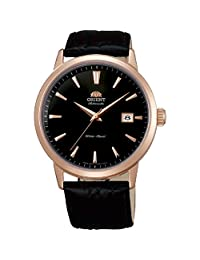 Orient Men's Symphony 41mm Black Leather Band Rose Gold Plated Case Automatic Analog Watch FER27002B0