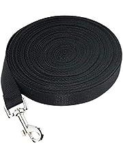 Dog Training Lead - Extra Long 15m Black Leash, Puppy, Durable and Quality Black Training Leash