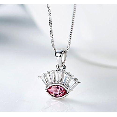 GuiXinWeiHeng Collier pendentif en cristal dames collier collier bijoux en cristal
