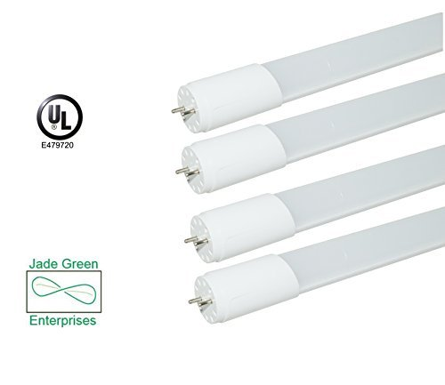 4 Pack 4 Foot T8 Led Tube Light 18w 5000k Daylight 2160 Lumens 120 Lm W Single End Power Ul Listed Dlc Listed