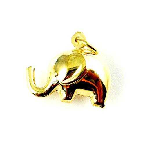 Gold 3d Elephant Charm - 8