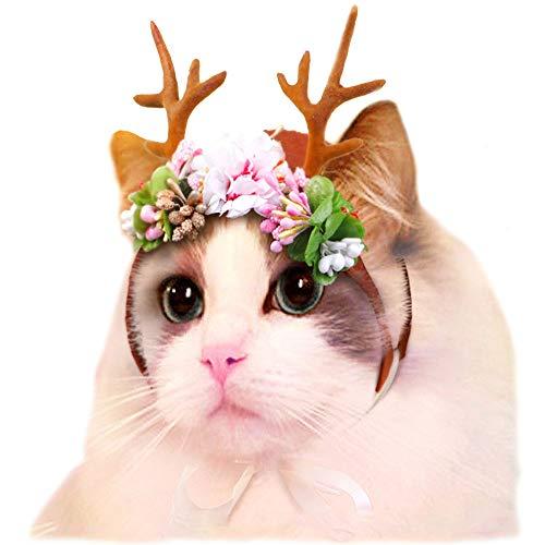Dog Elk Antler Reindeer Hat Cap Dog Cat