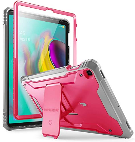 Galaxy Tab S5E Case, Poetic Full-Body Heavy Duty Dual-Layer Shockproof Protective Cover with Kickstand, Built-in-Screen Protector, Revolution Series, for Samsung Galaxy Tab S5E (SM-T720/T725), Pink
