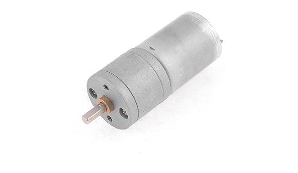DealMux 80 rpm 4 milímetros Shaft Dia Electric Power Gearbox Voltada 12VDC Motor - - Amazon.com