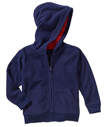 Garanimals Baby Toddler Boys' Long Sleeve Solid Micro Fleece Hoodie (5T, (Navy Blue Toddler Sweatshirt)