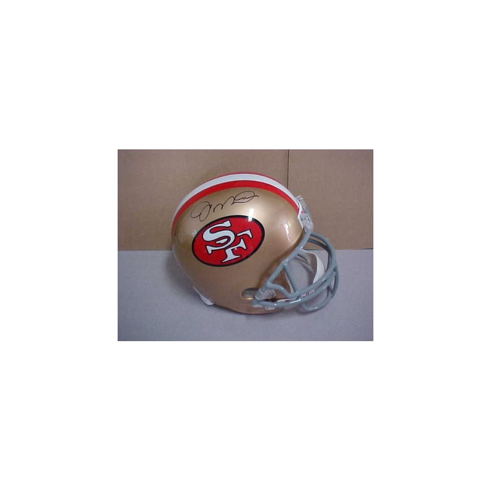 Joe Montana Hand Signed Autographed San Francisco 49ers Full Size Riddell Foo