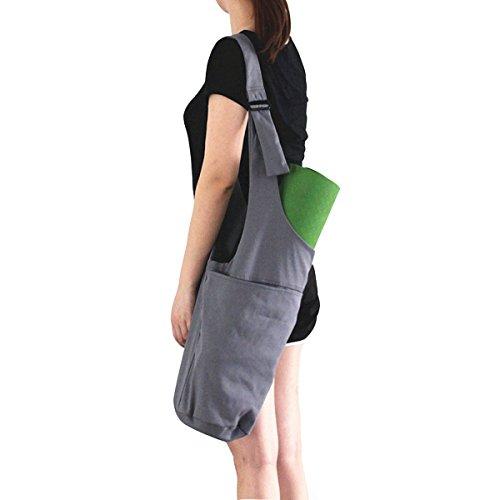 Okela Yoga Mat Bag by, Long Strap Yoga Mat Tote Sling Carrier with Side Pocket & Zipper Pocket, Fits Most Size Mats