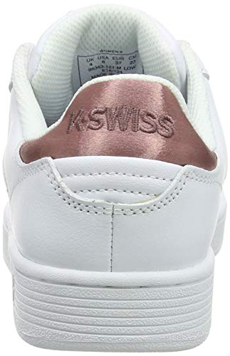 Court Clean Donna Cmf Pantofole 121 Bianco Rose white Basso A K Collo swiss old EqCwFW1