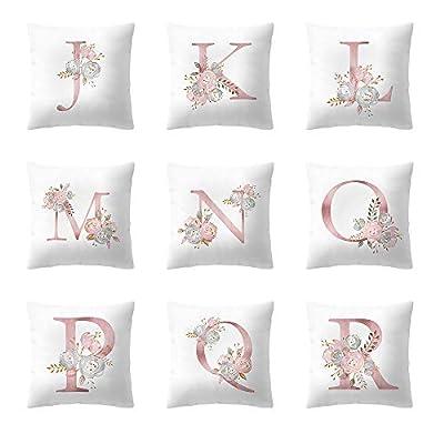 FORUU Throw Pillowcase, 45x45 cm Kinder Zimmer Dekoration Brief Kissen Englisch Alphabet Pillowcases