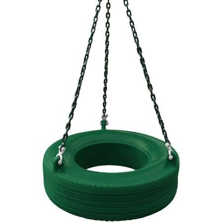Gorilla Playsets Roto-Molded Tire Swing, Green