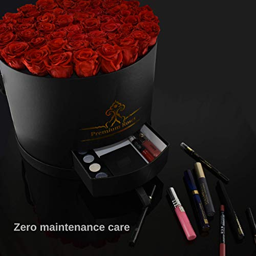Premium Roses  Model Black  Real Roses That Last 365 Days  Fresh Flowers (Black Box, Large) by Premium Roses (Image #3)