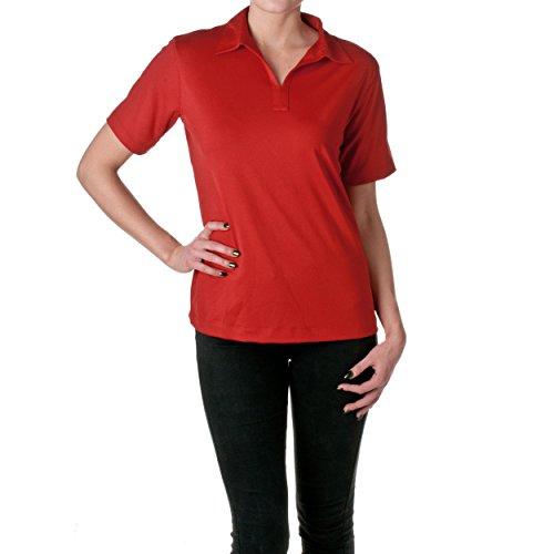 Reebok Ladies PLAY DRY Polo Shirt, Black, Size Medium