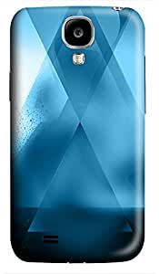 indestructible Samsung S4 case Abstract Blue X 3D cover custom Samsung S4