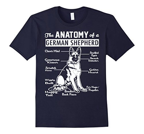 Mens The Anatomy Of A German Shepherd Shirt Medium Navy