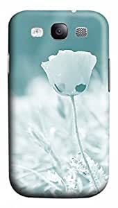 3D PC Case Cover for Samsung Galaxy S3 I9300 Custom Hard Shell Skin for Samsung Galaxy S3 I9300 With Nature Image- White Rose
