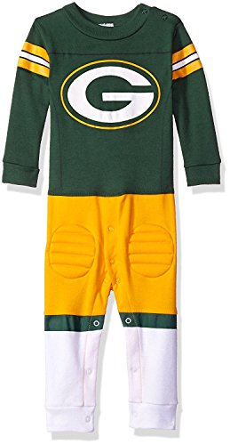 NFL Green Bay Packers Unisex-Baby Footysuit Coverall, Gray, 18 Months -