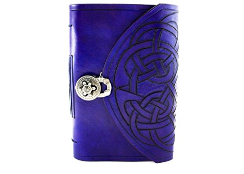 Celtic hand carved leather hand bound journal, Free initials! by Skrocki Designs: fine leather and artisan jewelry
