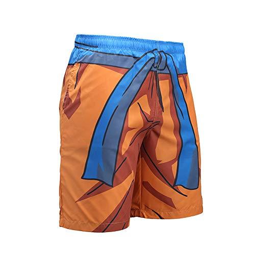 Dragon Ball z Swim Trunks for Men 3D Print Fast-Dry Boys Shorts Lounge Beach Shorts Naruto Costume -