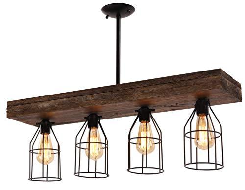 Wood Cage Pendant Light