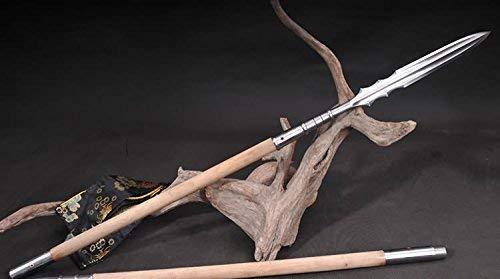 Loong sword Zhao Yunliang Silver Gun,Spear Damascus Steel Handmade Blades,Hardwood Rod,Martial Arts Lance Sale