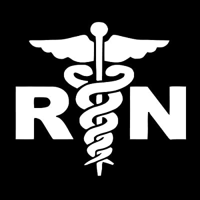 RN Registered Nurse Vinyl Decal Sticker | Cars Trucks Vans SUVs Windows Walls Cups Laptops | White | 5.5 Inch | KCD2408: Automotive