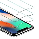 JETech Screen Protector for Apple iPhone XS and iPhone X, Case Friendly, Tempered