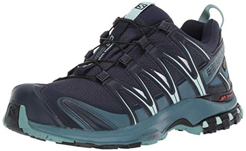 Salomon Women's XA PRO 3D GTX W Trail Running Shoe, Navy Blazer/Mallard Blue/Trellis, 7.5 M US ()