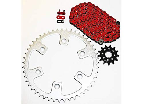 2014 O-ring Chain - 2002-2014 Honda CRF450R CRF 450 R Red Non O Ring Chain And Sprocket 14/51 120L