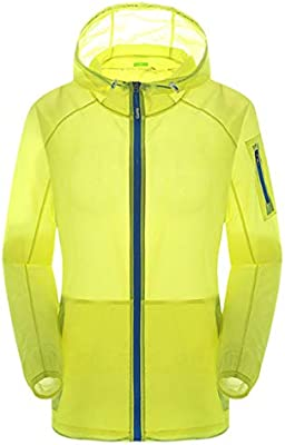 Clothing, Shoes & Accessories Sun Protection Coat Windproof Hooded Quick Dry Jacket Top Unisex Outdoor Sports Men's Clothing