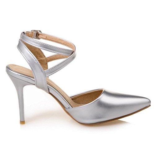 8 Femmes Silver Sandales TAOFFEN Pointu nxIUXqqH