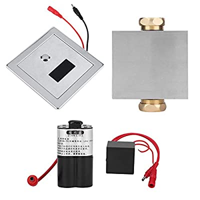 Pssopp Infrared Sensor Urine Flush Valve Manual & Automatic Intelligent Toilet Stool Flush Valve Concealed Bathroom Auto Urinals Flushing Kit