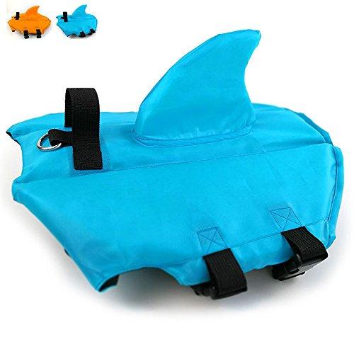(Snik-S Dog Life Jacket- Preserver with Adjustable Belt, Pet Swimming Shark Jacket for Short Nose Dog (Pug,Bulldog,Poodle,Bull Terrier,Labrador) (XS, Blue))