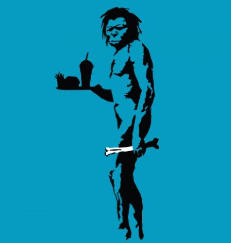 Banksy Tshirts PP - Höhlenmensch Mit Fast Food Banksy Kapuzenpullover Für Erwachsene Kinder T-Shirt 12 Jahr Saphir