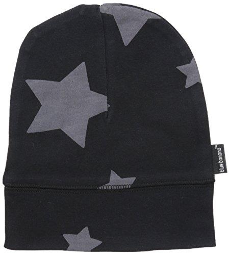 Blue Banana Baby Boys Beanie Hat Stars, Black, 3-9m (Star Knit Beanie)