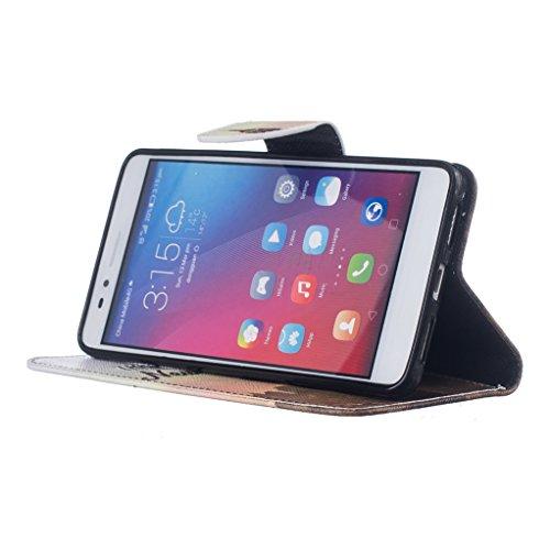 Trumpshop Smartphone Carcasa Funda Protección para Huawei Honor 6X + Lirio + PU Cuero Caja Protector Billetera con Cierre magnético [No compatible con Honor 6A y 6C] Three Days in New York City