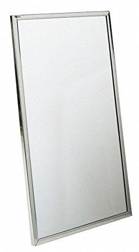 Bradley 781-018360 Roll-Formed Channel Frame Float Glass Mirror, 18'' Width x 36'' Height