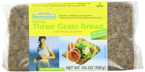 Mestemacher Bread Three Grain, 17.6-Ounce (Pack of 6) ()