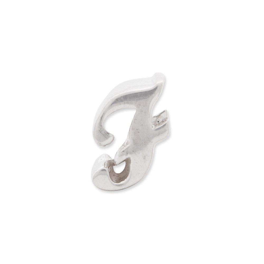 Beautiful Sterling silver 925 sterling Sterling Silver Reflections Letter F Script Bead