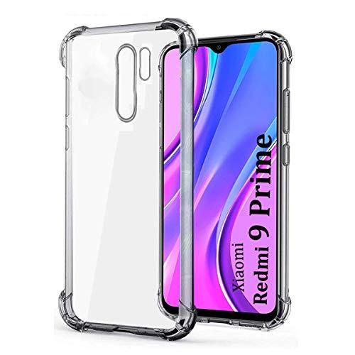 Silicon Mobile Thermoplastic Polyurethane, Silicone Back Cover for Redmi 9 Prime/Poco M2 (Transparent)