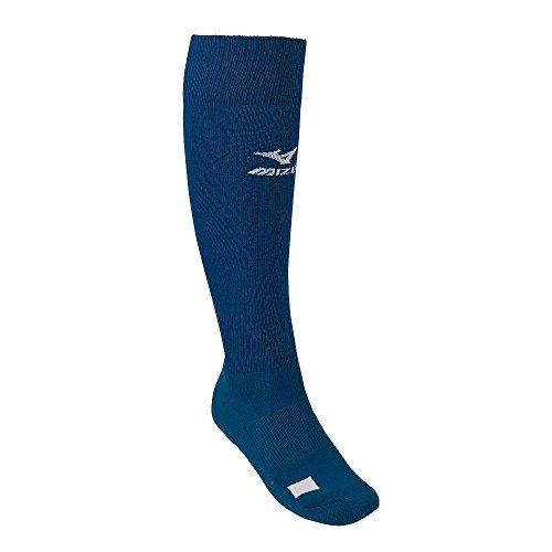 Navy Blue Adult Mizuno Performance Athletic Socks (All Sports: Baseball, Softball, Football, Soccer, Volleyball, Lacrosse)