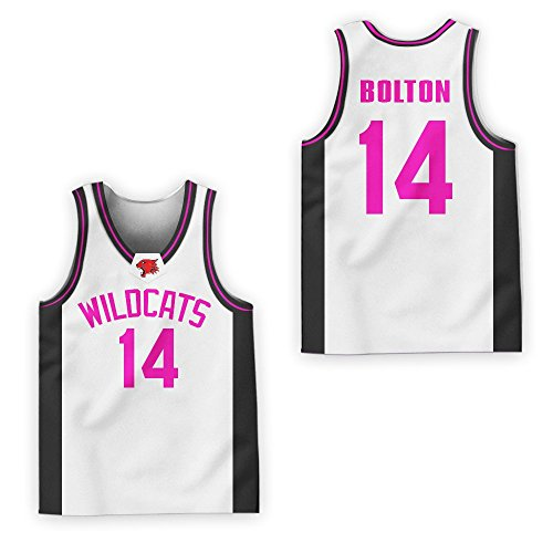 ab3629d7f90f borizcustoms Zac E Troy Bolton 14 East High School Wildcats Patch Basketball  Jersey Tanks Stitch (