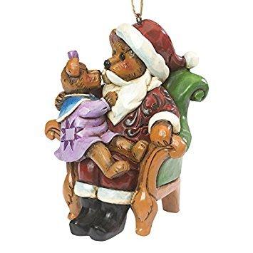 Jim Shore and Boyds Bears Santa with Holly Bear Christmas - Jim Shore Boyds
