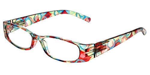 Calabria 759 Reading Glasses w/Matching Case in Red +0.75