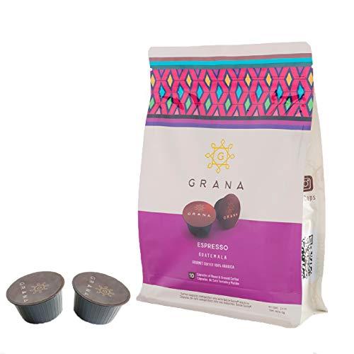 GRANA ESPRESSO- Nescafe 50 Dolce Gusto Compatible Capsules (Specialty, 100% Arabica Coffe)