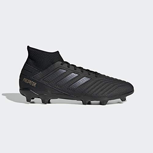 adidas Predator 19.3 FG Firm Ground Mens Football Soccer Boot Dark Script - UK 8 Black