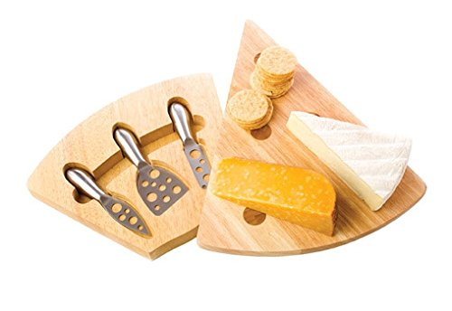 Wedge Cheese Board and Tool Set (Pack of 3)