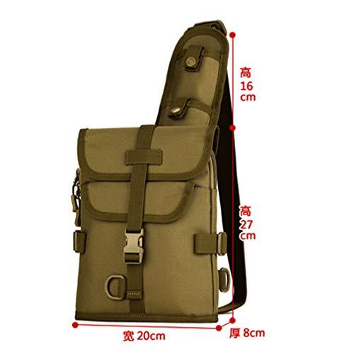 Waterproof Messenger Bag Crossbody Nylon Sling Chest Khaki Men 1000d Shoulder dnUx7q8daw