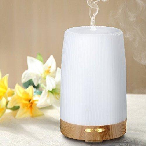 Euph 100ml Aroma Diffuser Aromatherapie Diffuser Nebel Luftbefeuchter Ultraschall Luftbefeuchter mit LED Farbwechsel ohne Lärm für Yoga Kinderzimmer Schlafzimmer Büro usw. -Weiß